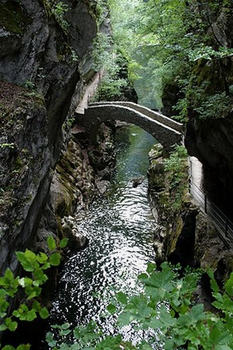 Gelyella - The Gorges de l'Areuse, where Gelyella monardi was discovered