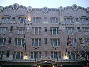 English: Facade of the Governor Hotel in Portl...
