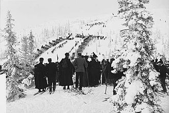History of skiing - Ski jumping in Trondheim 1907