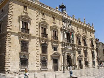 Real Chancillería de Granada. Fachada principal.
