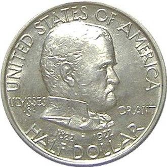 Grant Memorial half dollar - Obverse