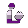 Gray Asexual Gray Aces Graces Graysexuals Pride Library Logo.png