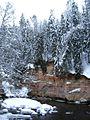 Great Taevaskoja sandstone outcrop - panoramio - Toomas Tsamoot.jpg