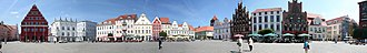 Greifswald - The central market square (Marktplatz)