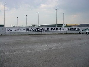 Raydale Park - Image: Gretna Football Club ground 1
