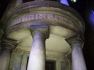 Fictional universe of Harry Potter - Front of Gringotts Bank