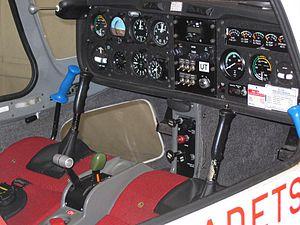 Volunteer Gliding Squadron - Image: Grob Vigilant T1 cockpit SM