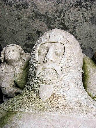 Penmynydd - Effigy of Goronwy ap Tudur at St Gredifael's Church, Penmynydd
