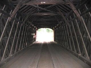 Lattice truss bridge