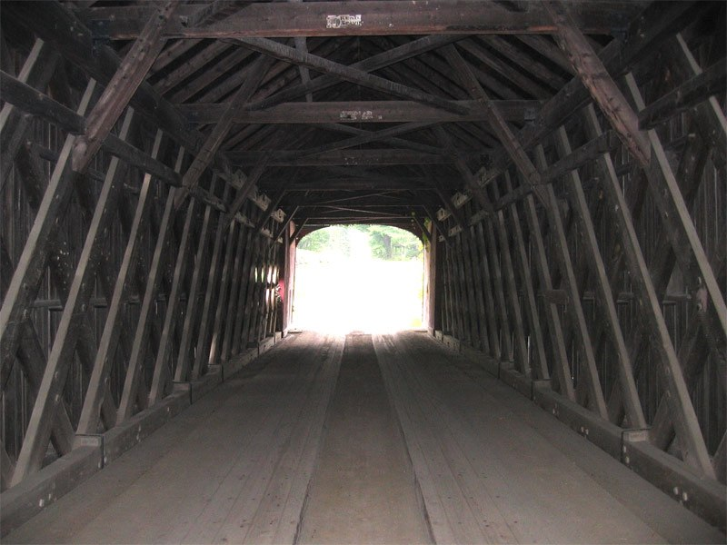 Guilford vermont bridge covered bridge interior
