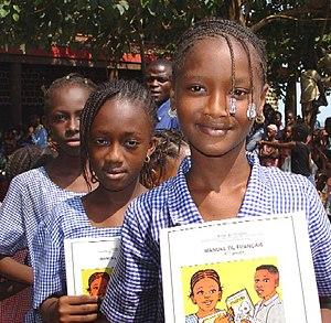Education in Guinea - Image: Guinea schoolgirls