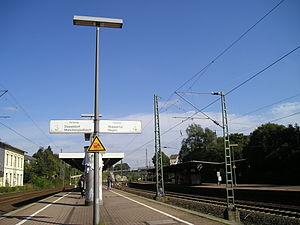 Gruiten station - S-Bahn platforms