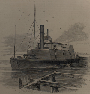 "USS Planter (1862) - The gunboat ""Planter,"" run out of Charleston by Robert Smalls in May 1862"