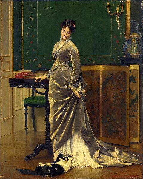 File:Gustave Léonard de Jonghe - A Playful Moment.jpg