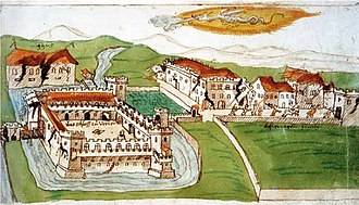 Great Comet of 1577 - The city of Ferrara destroyed by the 1570 earthquake and the Great Comet of 1577