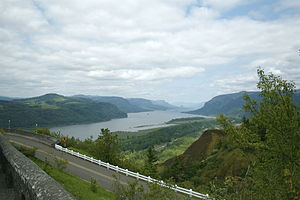 Historic Columbia River Highway - The view from Crown Point