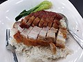 HK PFL campus 香港大學 HKU 黃克競大樓 Haking Wong Building catering outlet Union Restaurant (EAT) by Sodexo dinner rice 叉燒 BbQ pork meat 燒肉 pork meat 碟頭飯 May 2019 SSG 03.jpg