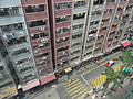 HK Shek Tong Tsui Queen's Road West 永華大廈 Wing Wah Mansion facade July-2015 DSC yellow line crossway.JPG