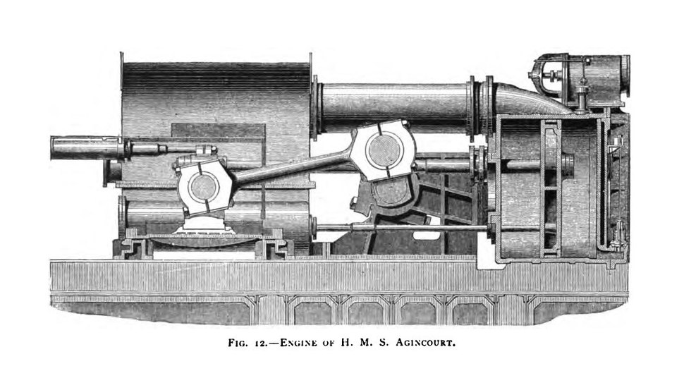 HMS Agincourt engine