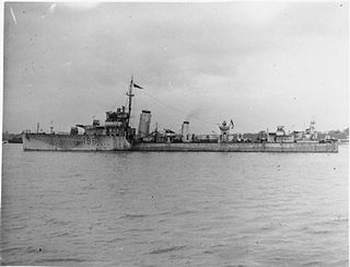 HMS <i>Worcester</i> (D96) Modified W-class destroyer of the British Royal Navy
