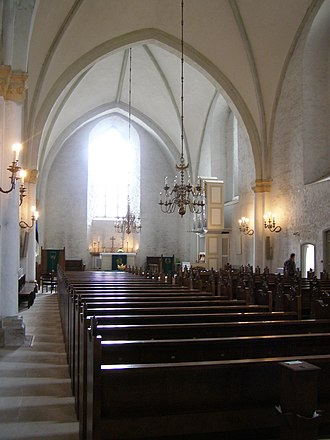 Haapsalu Castle - Inside the cathedral