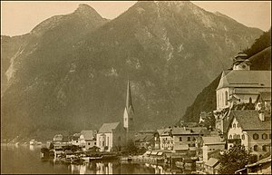Hallstatt - View of Hallstatt in 1899