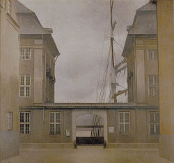 HAMMERSHØI Vilhelm View of the Old Asiatic Company 1902
