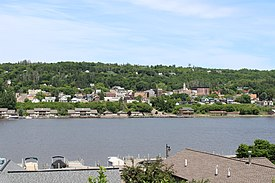 View from Houghton looking across the Keweenaw Waterway