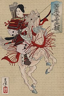 female samurai warrior of the late 12th and early 13th century