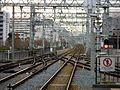 Hankyu Nishinomiyakitaguchi Station platform - panoramio (3).jpg