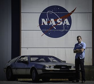2015 in science fiction - A NASA photo of original DeLorean time machine, bought by Goddard's Office of Communications as part of celebration of the Back to the Future day
