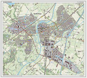 Hardenberg - Dutch Topographic map of Hardenberg (town), June 2014
