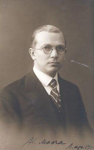 Harri Moora - Harri Moora in 1930