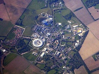 South East England - Harwell Science and Innovation Campus seen from the air in September 2015; the JANET academic computer network is headquartered there, and connects to Sci-Tech Daresbury in Cheshire (Warrington)