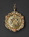 Hat Badge Mounted as a Pendant with the Flaying of Marsyas MET DT3590.jpg