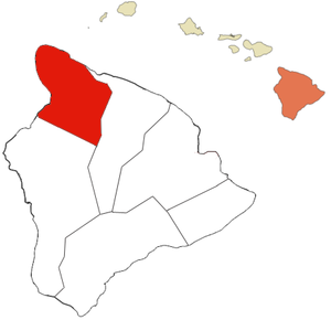 Map of Kohala district, Hawaii