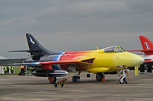 "Hawker Hunter - ""Miss Demeanour"" – a privately owned Hawker Hunter F.58A, 2007"