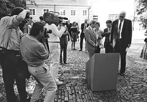 David Shapiro (poet) - Václav Havel, Shirley Temple Black, David Shapiro and John Hejduk, Prague, 3 September 1991
