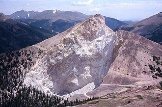 Henderson molybdenum mine - The Henderson mine glory hole, 1989.