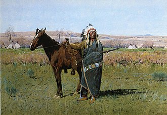 Plains Indians - Spotted Tail, a Dakota chieftain.