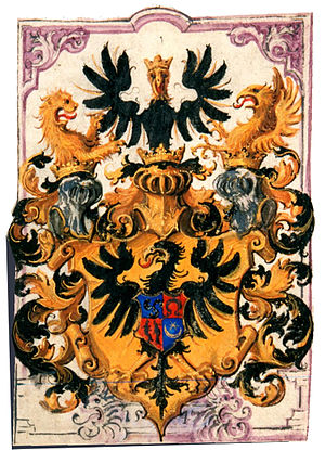 Radziwiłł family - The coat of arms as granted in 1547 by the Holy Roman Emperor.