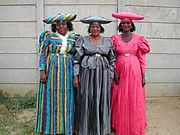A group of Herero women, Windhoek, Namibia