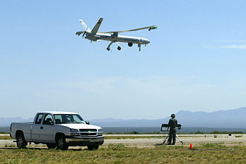 An Hermes 450 Unmanned Aerial Vehicle (UAV) of...