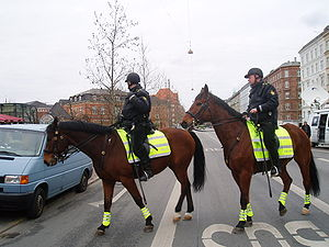 Police of Denmark - Mounted police officers
