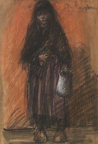 "Eugeen Van Mieghem - Het Soepmeisje (""The Soup Girl"", 1901)"