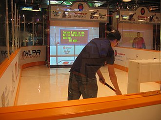 "Hockey Hall of Fame - The ""Be a Player"" exhibit"
