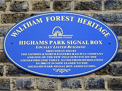Highams park signal box (waltham forest heritage)