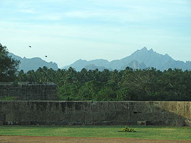 Hill-View from Vattakottai Fort.JPG