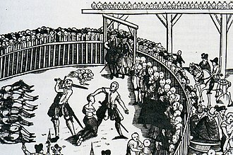 Executioner - Depiction of the public execution of pirates in Hamburg, Germany, 10 September 1573