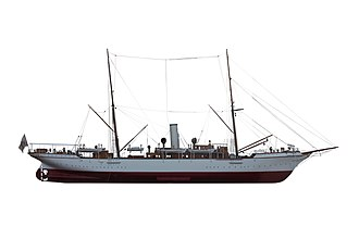 Albert I, Prince of Monaco - Scale model of Hirondelle II. On display at the Oceanographic Museum.